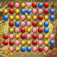 Разноцветные кристалы три в ряд