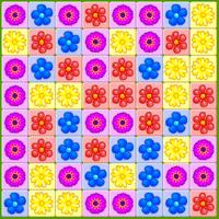 Пчёлки и цветы 3 в ряд
