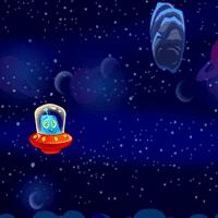 Летающее НЛО в космосе